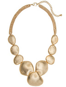 Hammered goldtone necklace by Lane Bryant