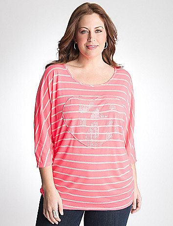 Plus Size Sequin Heart Tunic by Lane Bryant