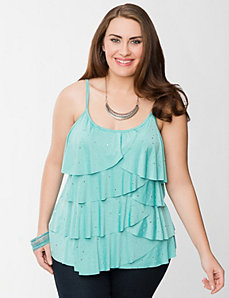 Studded layered cami