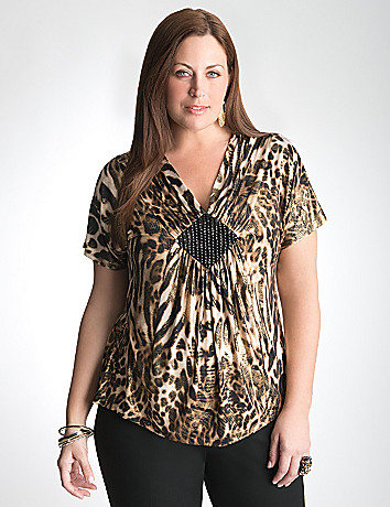 Plus Size Animal Blouse by Lane Bryant