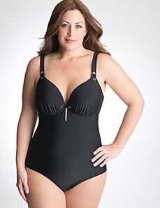 Plus Size Cut out back one piece swimsuit by Cacique