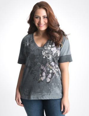 Butterfly high low tee