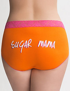 Sugar Mama cotton brief panty by Cacique