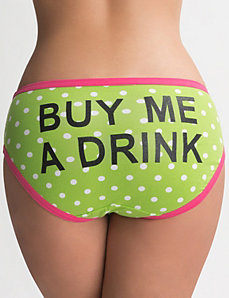 Buy Me a Drink cotton hipster by LANE BRYANT