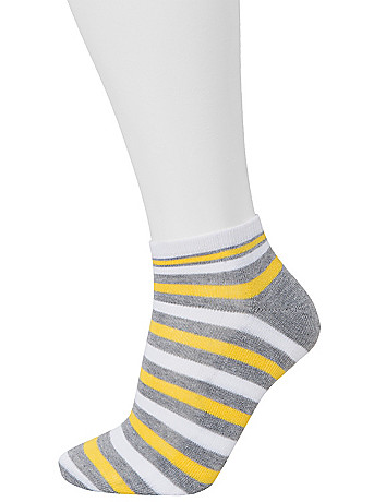 Striped Low Cut Sock 3 Pair Set by Lane Bryant