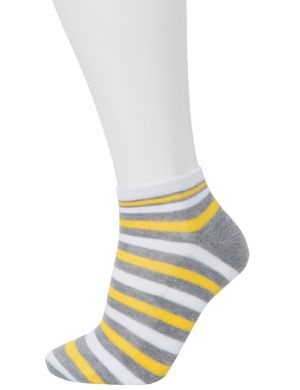 Striped low cut sock 3 pack combo