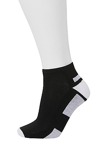 Colorblock sport socks 3 pack by Lane Bryant