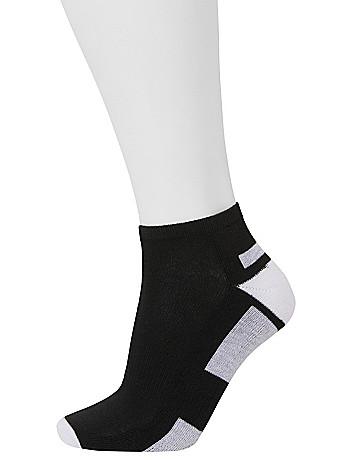 Colorblock sport socks 3 pack by Lane Bryant