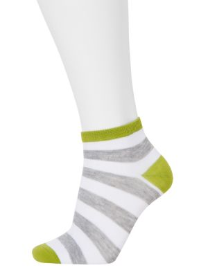Rugby stripe low cut sock 3-pack