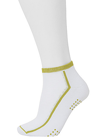 Colored ankle sport socks 3 pack by Lane Bryant