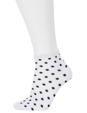Ditsy dot low cut sock 3-pack