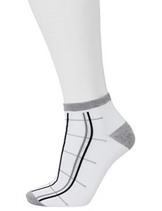 Three Pairs Low Cut Striped Socks by Lane Bryant