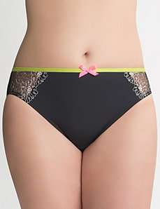 Color pop embroidered hipster panty by Cacique