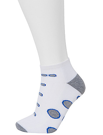 Polka Dot Low Cut Sock 3 Pair Set by Lane Bryant
