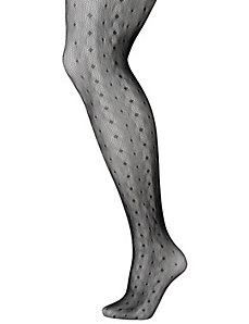 Mini dot fishnet tights by Lane Bryant