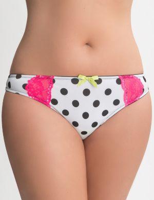 Bold dot thong panty