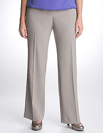 Plus Size Dashed Pinstripe Suit Pant