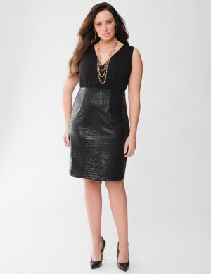 Lane Collection reptile embossed dress