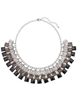Square bead bib necklace by Lane Bryant