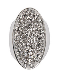 Rhinestone cocktail ring by Lane Bryant