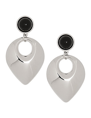 Polished button drop earrings by Lane Bryant