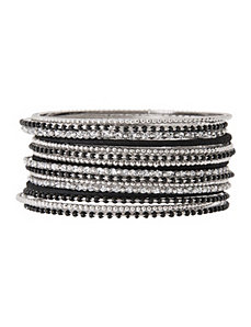 16 row multi media bangle set by Lane Bryant