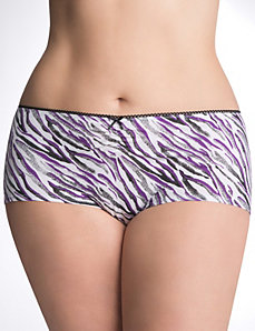 Ruched cotton boyshort panty