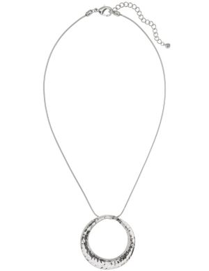 Hammered circle pendant necklace by Lane Bryant