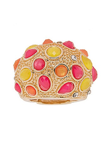 Colorful stone dome ring by Lane Bryant