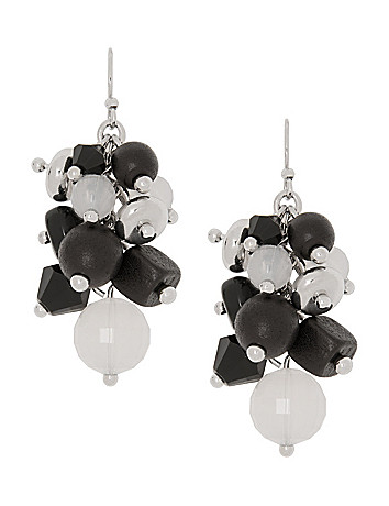 Beaded cluster earrings by Lane Bryant