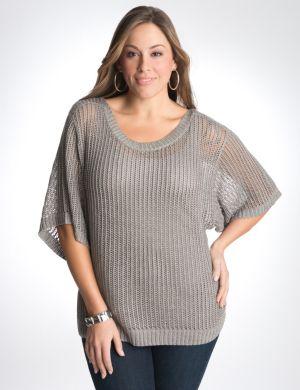 Metallic open stitch sweater