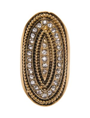 Braided oval statement ring by Lane Bryant