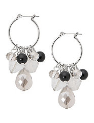Beaded mini hoop earrings by Lane Bryant
