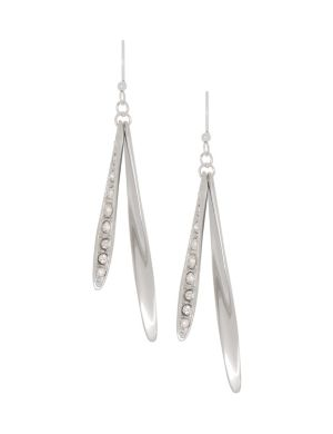 Rhinestone stick earrings by Lane Bryant