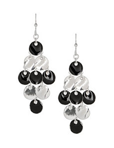 Enamel waterfall earrings by Lane Bryant