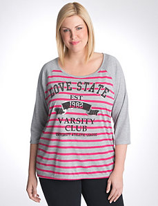 Plus size Love State baseball tee