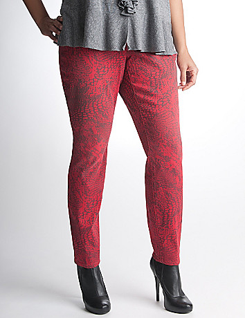 Plus Size Python Jegging by DKNY JEANS