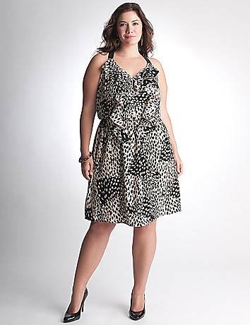 Full Figure Leopard Dress by DKNY JEANS