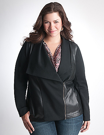 Plus Size Faux Leather Jacket by DKNY JEANS
