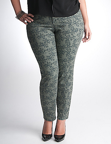 Plus Size Camo Print Jegging by DKNY JEANS