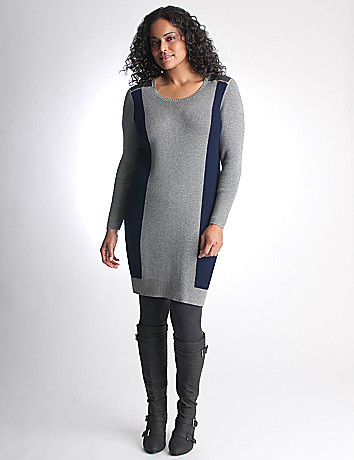 Colorblock sweater dress by DKNY JEANS