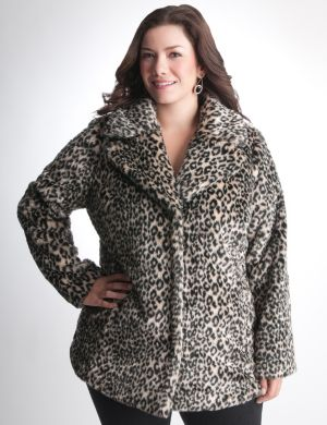 Leopard print coat by DKNY JEANS