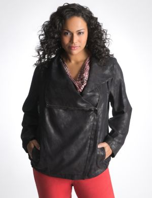 Faux suede jacket by DKNY JEANS