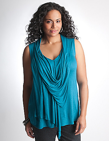 Sleeveless cowl top by DKNY JEANS