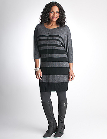 Striped dolman sweater dress by DKNY JEANS