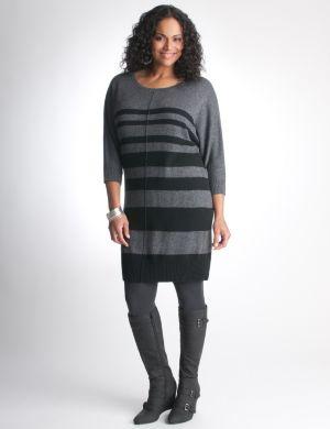 Striped dolman sweater dress by DKNY JEANS