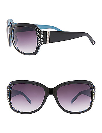 Two-tone Rhinestone Sunglasses by Lane Bryant
