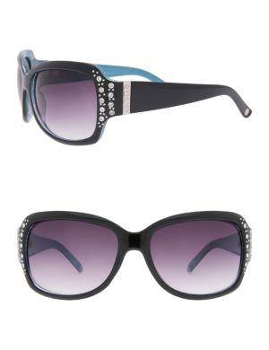 Two-tone rhinestone sunglasses