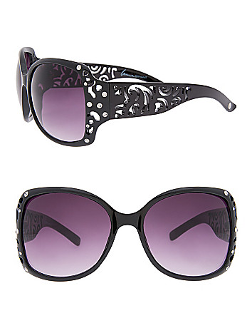 Scroll Cut Out Sunglasses by Lane Bryant