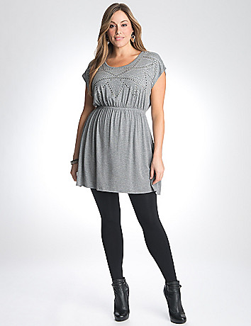Full Figure Embellished Knit Dress by Lane Bryant